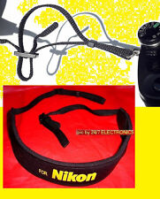 NEOPRENE CAMERA STRAP FOR NIKON COOLPIX L810 L820 L830 L840+2 CONNECTING RINGS