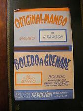 Partition Originale Mambo H Dawson Bolero ha Grenade Luciano Enro