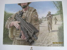 AFGHANISTAN Op Herrick 3rd Bn Yorks 57x47cm limited edition signed C. Palmer x1