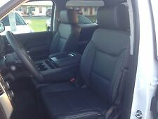 2014 2015 GMC SIERRA DOUBLE CAB 1500 KATZKIN BLACK LEATHER INTERIOR SEAT COVER