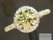 .92ct Fancy Intense Yellow VS2 Round Brilliant GIA Ring R5351 Diamonds by Lauren