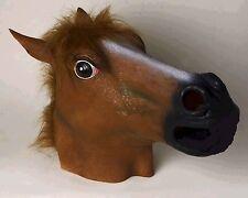 HORSE Mask FULL SIZE Life-Like Realistic Costume Adult HEAD Latex Brown Furry