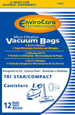 Compact Tri-Star canisters vacuum cleaner bags - 12 Pack