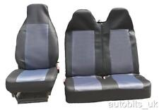 PEUGEOT EXPERT 2+1 GREY BLACK SINGLE +DOUBLE FABRIC SEAT COVERS TAILORED