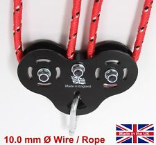 Zip Line Trolley 10mm Wire Rope Climbing Made in England Steel High Speed