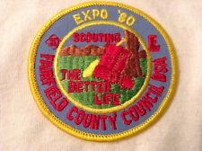 Boy Cub Scout Fairfield County Council Expo 1980 Patch