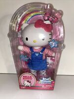 "Hello Kitty 13"" Doll Best Friend Jointed Posable Denim Dress Sanrio Blip Toys"