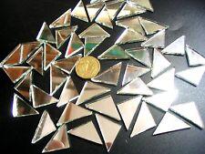 100 MOSAIC Mirror Triangle Tiles 35mm x 20mm x 20mm Arts & Crafts