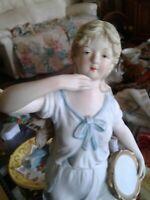 "VINTAGE BISQUE PORCELAIN LARGE PEASANT GIRL FIGURINE #23/353 ~ RARE PIECE ~14 """