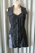 LILIA ~ Black Crinkle  ABSTRACT TOP/DRESS * Size XS * SALE *