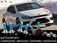 VW SCIROCCO 2008+ SET COMPLETO LAMPADE BLU XENON + POSIZIONE A LED