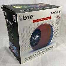 iHome Melody Color Changing Bluetooth Dual Alarm Clock & USB Charging. OPEN BOX
