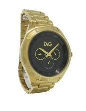 Dolce & Gabbana Time DW0653 Men's Round Gold Tone Day & Date Roman Numeral Watch