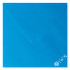 25x Briefumschläge feuchtklebend Blau 15,5x15,5cm (155x155mm)