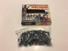 Vtg Toy Soldiers American Civil War Union Infantry Airfix (70 pieces)