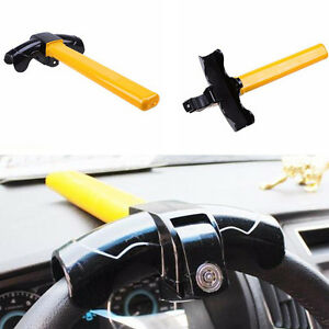 T-Style Heavy Duty Anti Theft Device Car Security Rotary Steering Wheel TurnLock