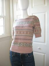 RALPH LAUREN COLLECTION PURPLE LABEL Spring Sweater Top Fairisle Cashmere Italy