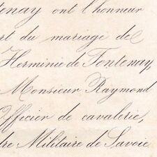 Herminie De Fontenay La Mothe Flée Sarthe De L'Estoile 1863