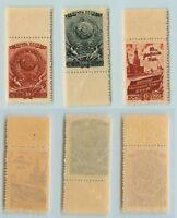 Russia USSR ☭ 1946 SC 1026-1028  MNH. f9095
