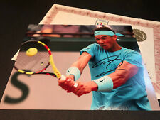 RAFA RAFAEL NADAL FRENCH OPEN SIGNED AUTHENTIC AUTOGRAPH WITH COA