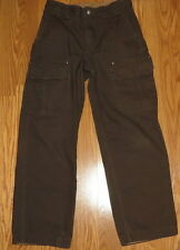 Duluth Trading Co Men's Cargo Pants Brown Canvas Heavy Cotton-30 x 30