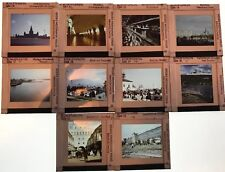 10 x Vintage Glass Mounted 35mm Photo Slides Professional Images Russia 1960s