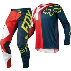 Brand New Fox Adult 360 Preme Red/Navy Motocross Kit Combo Size 28W Small Jersey