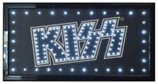KISS Official Licensed ROCK  LED light up sign on off switch licensed free ship