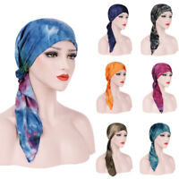 Muslim Women Cotton Hijab Hat Chemo Inner Cap Hair Loss Head Scarf Turban Wrap