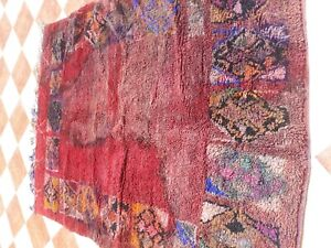 Old Worn Traditional Handmade  Wool Big Carpet 216x166cm