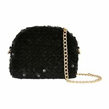 Accessorize Monsoon Sparkly Evening Ladies Clutch Bags Party Black Gold BNWT