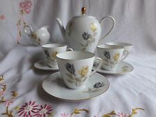 VINTAGE GERMAN BONE CHINA SELTMANN WEIDEN  YELLOW ROSE PART COFFEE SET 23744