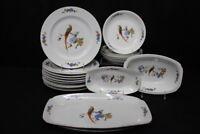 16 Pc. Paradise Exotic Bird EPIAG Royal V Czechoslovakia Plates, Bowls, Platter