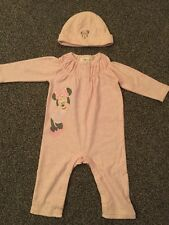 Baby Girls Disney Sleepsuit + Hat, 3-6 Months