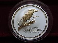 Australia. 2003  2 oz - Silver Kookaburra ($2)..  BU  - In capsule