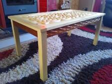 BESPOKE CARVED CUSTOM MADE ONE OF A KIND CELTIC WEAVE COFFEE TABLE