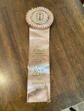 """Vintage 12"""" Rock Valley Cat Club American Cat Fanciers Rockford Illinois award"""