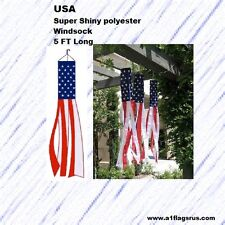 5ft.USA Super Poly Windsock