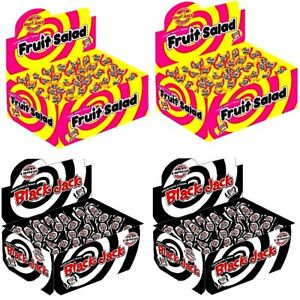 100 x Black Jack Chews Fruit Salad VEGETARIAN Retro Sweets Party FATHERS DAY