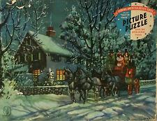 WW2 Era Military Pieces Jigsaw Puzzle Tally-Ho Coach 1942 J.S. Publishing Co