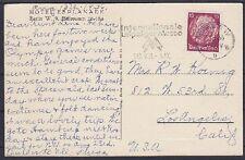 DR Mi Nr 520 EF auf AK Berlin Hotel Esplanade u. WS Messe - Los Angeles USA 1936