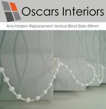 """Aria Welded Luxurious Made to Measure Replacement Vertical Blind Slats 89mm 3.5"""""""