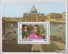 lesotho Bloc 51 (complète edition) neuf avec gomme originale 1988 visite pape je