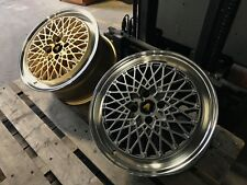 "Autostar MINUS 17"" x 8"" 4x100 et30 alloys fit VW BMW E30 POLO UP MINI GOLD"