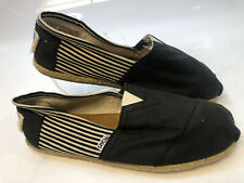 Toms Silhouette Slip-On Mens size 11 (Black or Blue) Canvas Loafers Casual Shoes