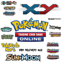 Pokemon Online Codes BOOSTERS for TCGO Sun & Moon / XY / BW & MORE