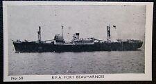 RFA FORT BEAUHARNOIS   Royal Fleet Auxiliary Supply Ship   # Vintage Photo Card
