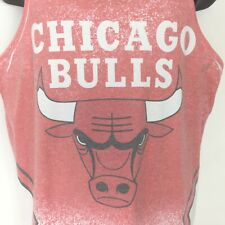 Chicago Bulls NBA Graphic T Shirt Med Tank Color Fade Mitchell and Ness