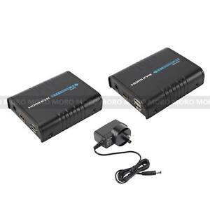 120M HDMI KVM EXTENDER via Network Cable RJ45 LAN CAT5/5e/6 USB Remote Control