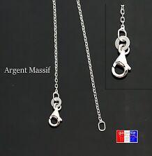 Fine chaine de cou en argent Massif 925 rhodié taille Pour Homme Femme neuve